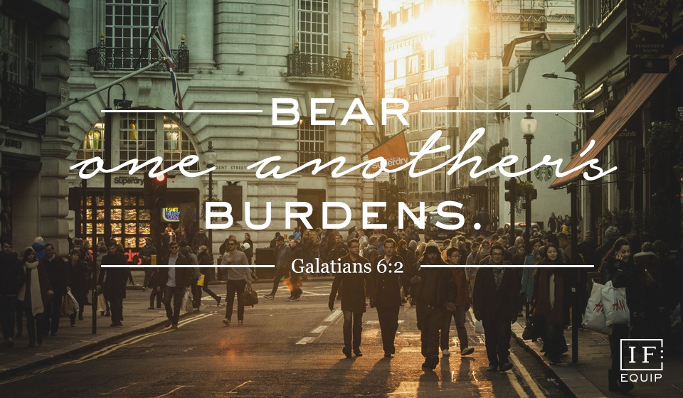 Live by the Spirit – restore, carry burdens, be alongside…
